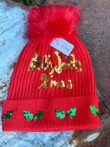 Top It Off-Holly Jolly Hat