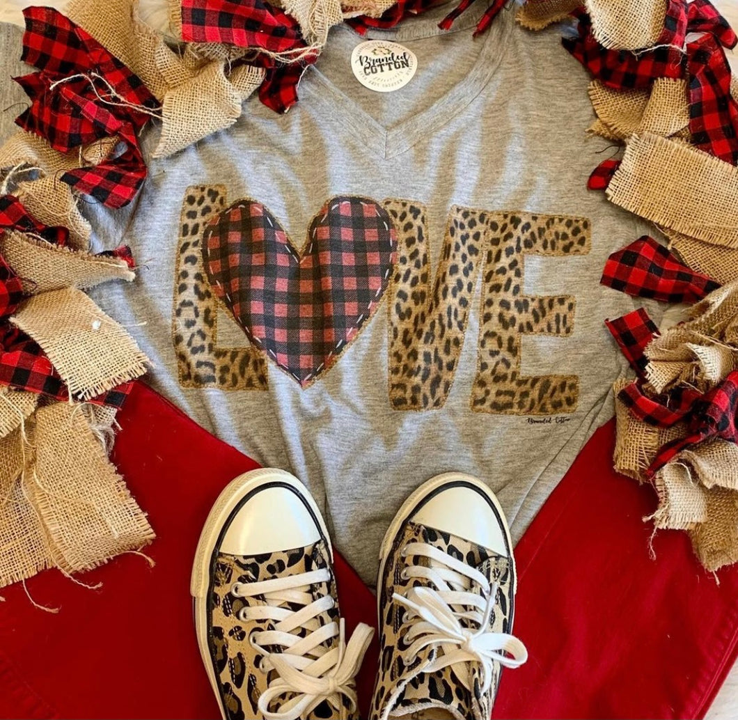 Branded Cotton-Leopard LOVE