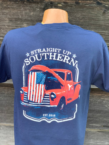 Straight Up Southern-Patriotic Truck Hood