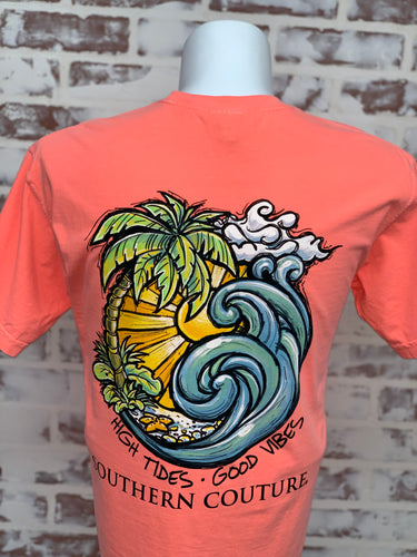 Couture Tee-High Tides Good Vibes
