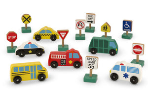 M&D- Wooden Vehicles and Traffic Signs