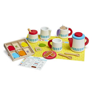 M&D- Wooden Steep & Serve Tea Set