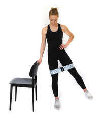 Side glute kick with resistance band