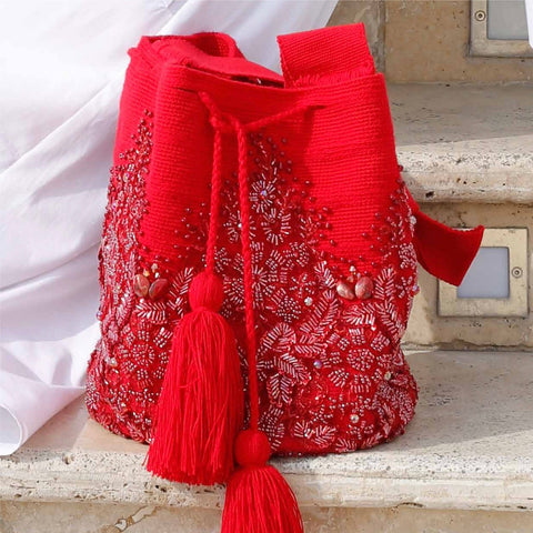 Applique Red Clusters