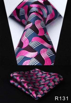 Paisley Silk Necktie and Handkerchief Set