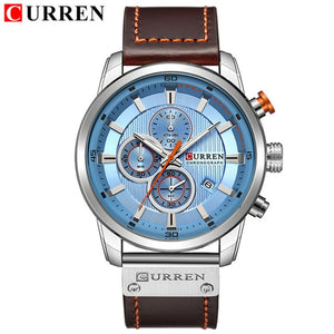 CURREN Watch with Chronograph Sport Waterproof Clock