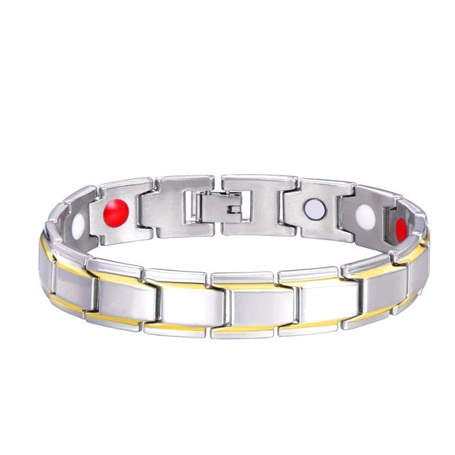 Stainless Steel Magnet Health Bracelet in 5 designs