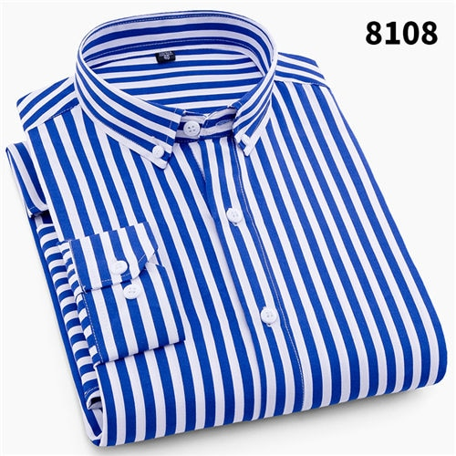 2019 Striped Long Sleeved Shirts to 4XL