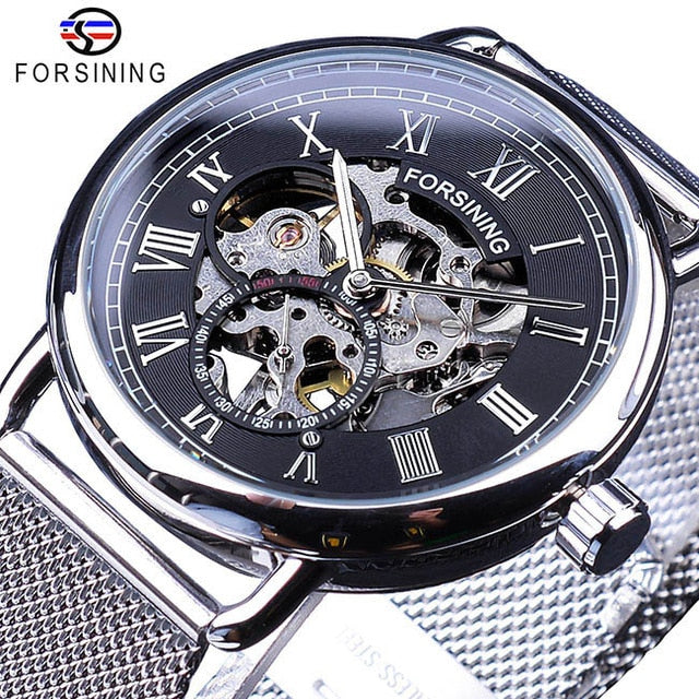 FORSINING Luxury Classic Golden Skeleton Mechanical Watch