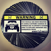 """Warning"" Stickers"