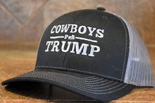 "Load image into Gallery viewer, Trucker Hat - ""Cowboys for Trump"""
