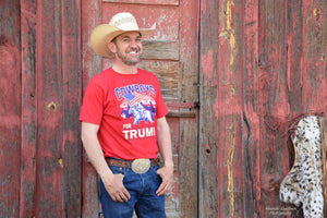 Cowboys for Trump T-Shirt - Red