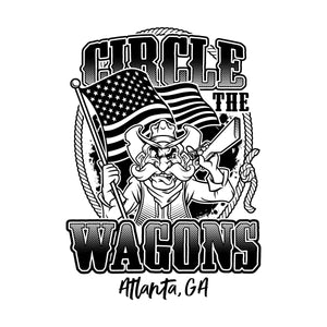 Circle the Wagons Event T-Shirt - Atlanta, GA