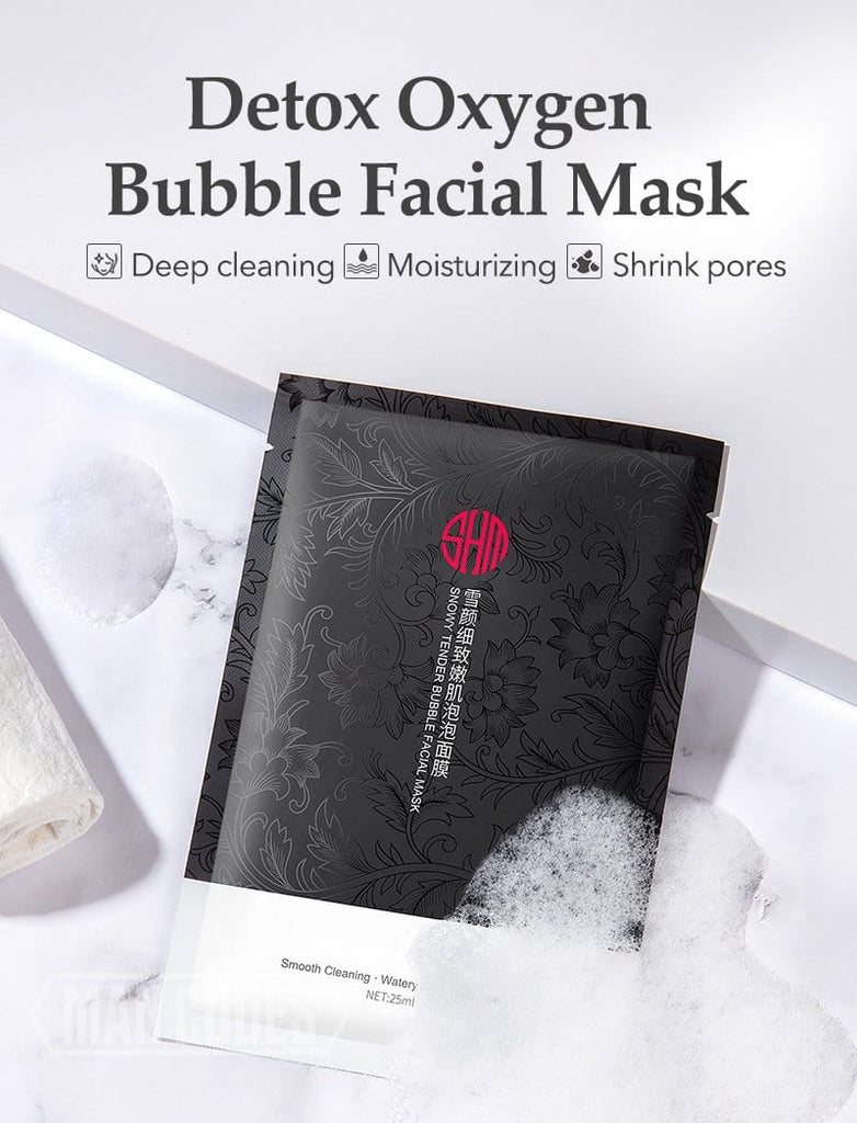 Charcoal Detox Oxygen Bubble Mask (10pcs)