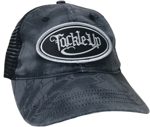 Garment Washed Trucker Hat - Kryptek Typhon/Black