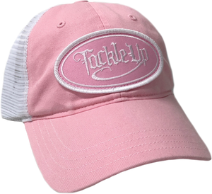 Garment Washed Trucker Hat - Pink