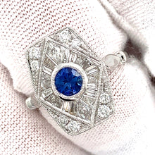 Art Deco Inspired Sapphire & Diamond Ring