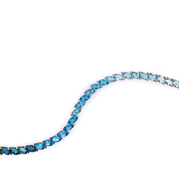 Color Fading Blue Topaz Bracelet