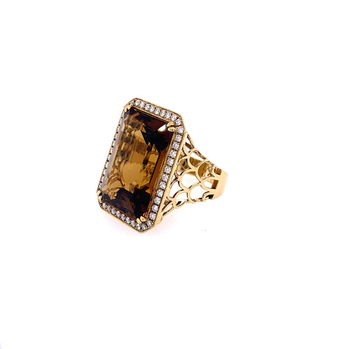 Topaz & Diamond Ring