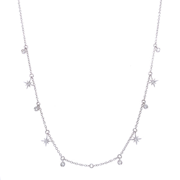 Celestial Diamond Dangle Necklace With Modifier
