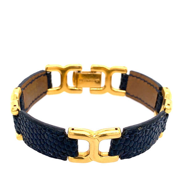 Hermes Leather Link Bracelet (Pre-owned)