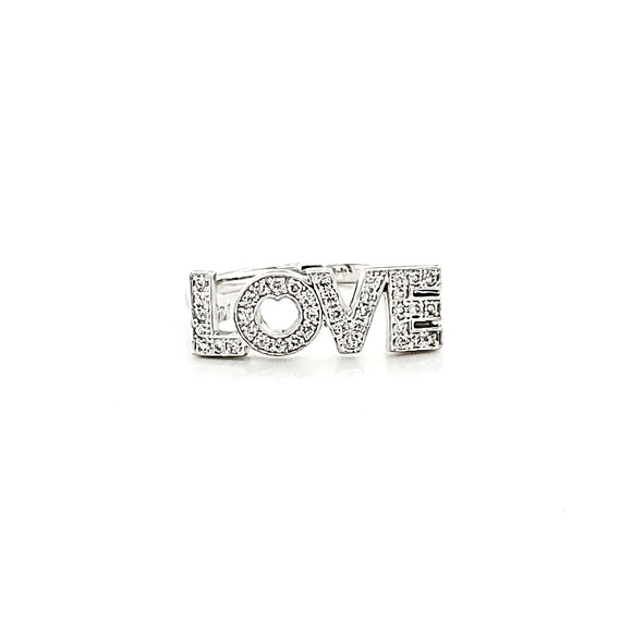 Diamond 'LOVE' Ring
