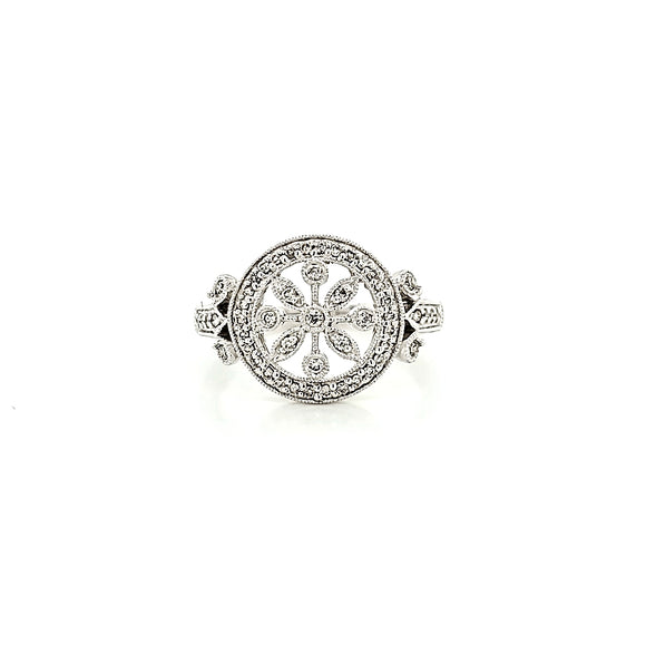 Gabriel & Co. Floral Diamond Cluster Ring