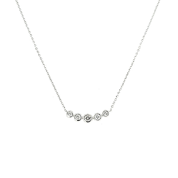 Diamond 5 Stone Necklace