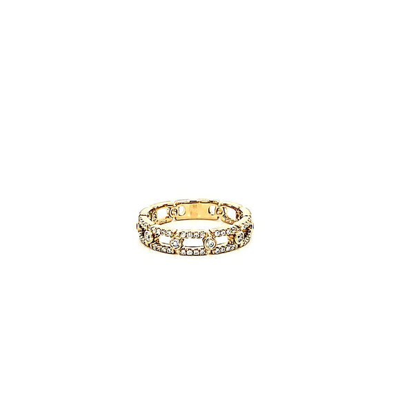 Link Style Diamond Ring