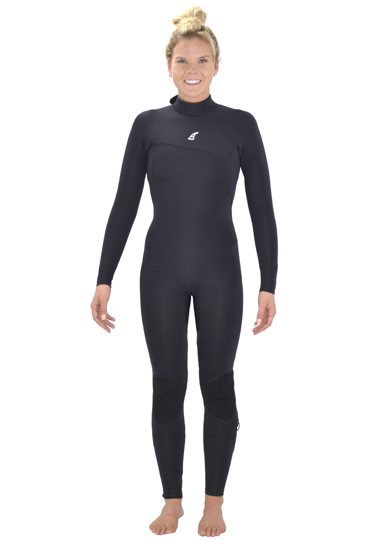 Akela Surf Women Back Zip  4/3mm Wetsuit