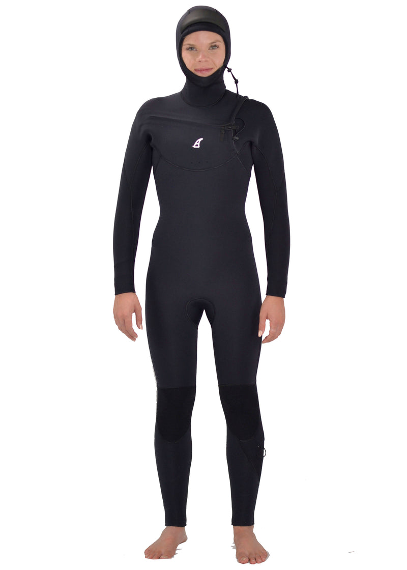 Women's Lawrencetown Hooded 5/4 Chest Zip Wetsuit