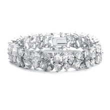 Load image into Gallery viewer, Bedazzling Wedding Bracelet in Multi Shaped CZ