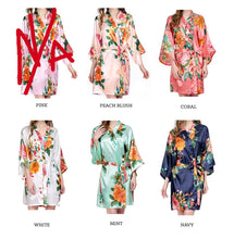 Load image into Gallery viewer, Watercolor Floral Robe