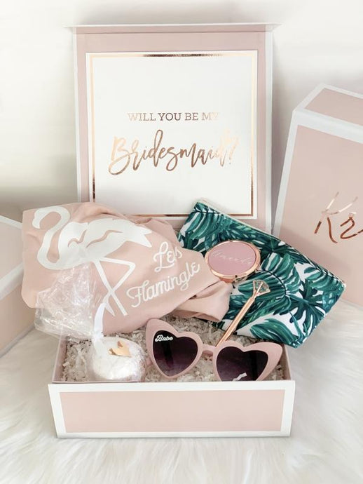 Pink Bridal Party Gift Boxes