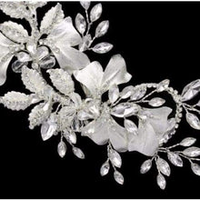 Load image into Gallery viewer, Flower and brushed leaf style Bridal Hair Clip - Bridal head Band