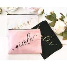 Load image into Gallery viewer, Custom Name Canvas Cosmetic Bags - Cosmetic Bag