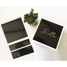 Load image into Gallery viewer, Black and White Personalized Gift Boxes - Gift Box