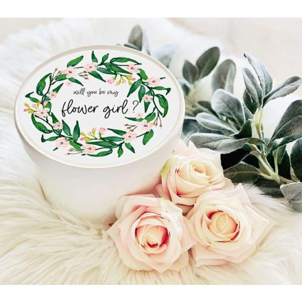 Round Gift Box - Bridal Party Wreath - Gift Box
