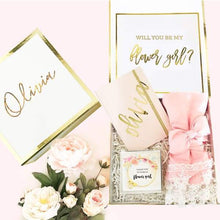 Load image into Gallery viewer, White and Gold Personalized Gift Boxes - Gift Box