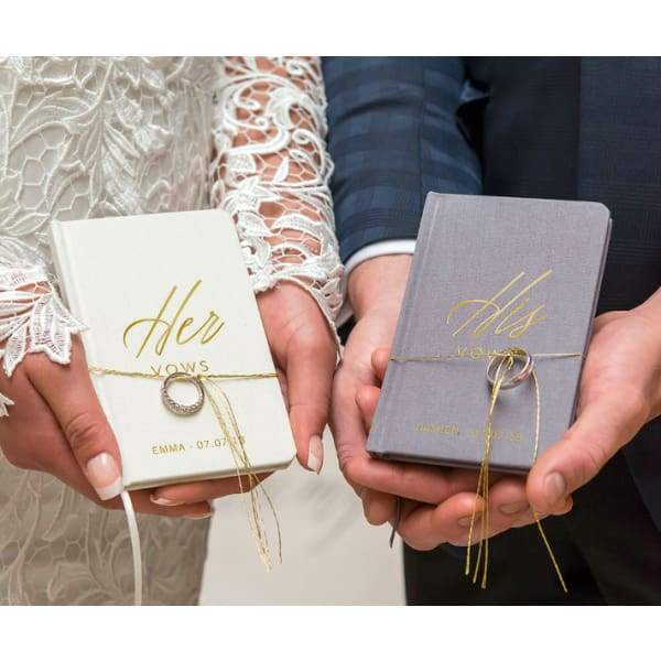 Personalized Vow Pocket Notebook Her Vows