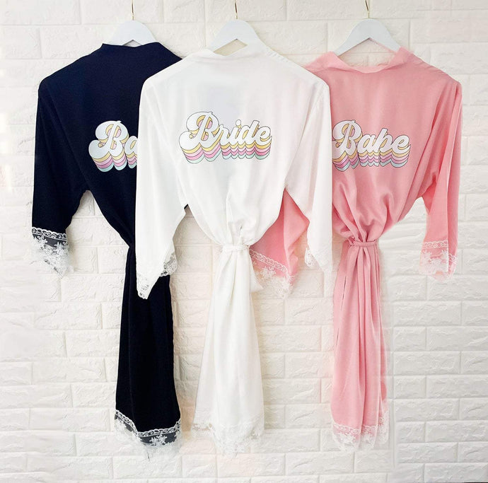 Retro Wedding Cotton Lace Robes