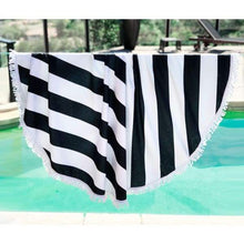 Load image into Gallery viewer, Striped Round Towel - Striped Round Towel
