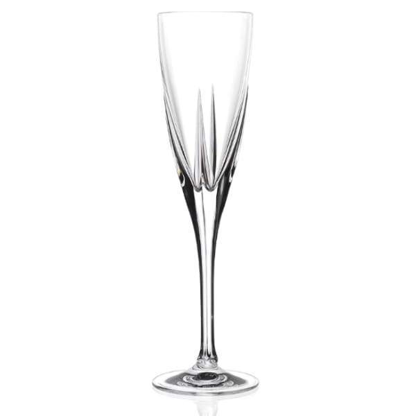 RCR FUSION CRYSTAL CHAMPAGNE GLASS SET OF 6 - Crystal Champagne Glass