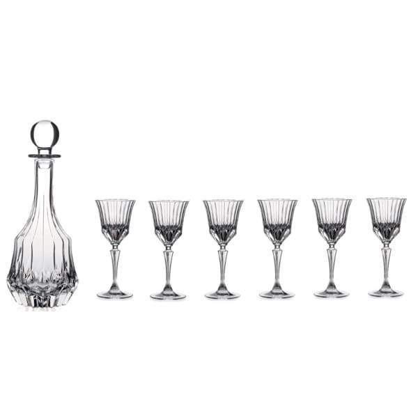 RCR ADAGIO CRYSTAL 7PC. LIQUOR SET -Decanter/Glasses - Crystal Wine Glass