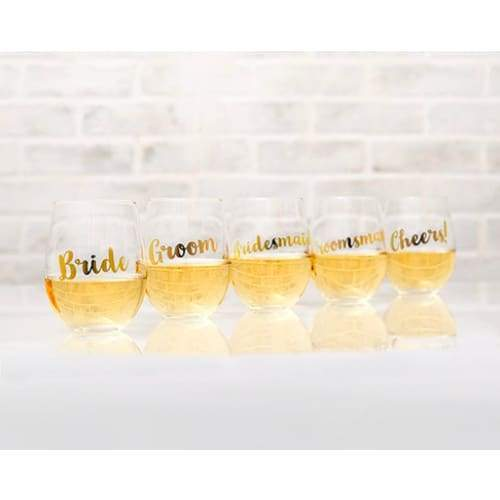 Stemless Toasting Wine Glass Gift For Wedding Party - Stemless Wine Glass-Maid of Honor