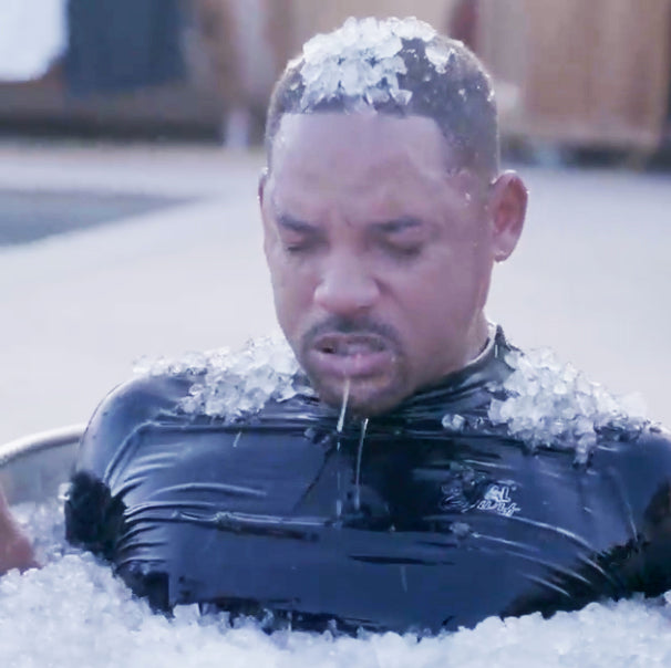 Will Smith in ice bath at Laird Hamilton's