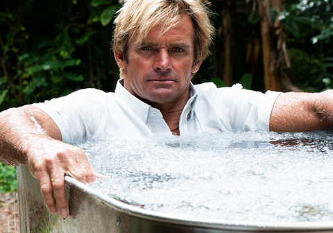 Laird Hamilton in the ice bath. Shot for American Way Magazine