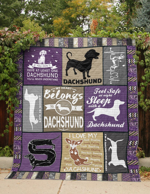 DACHSHUND IN MY HEART - Premium Blanket