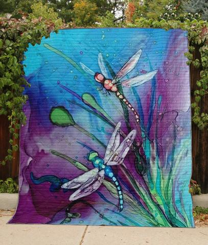 Colorful Dragonfly- Premium Blanket (NQC87)