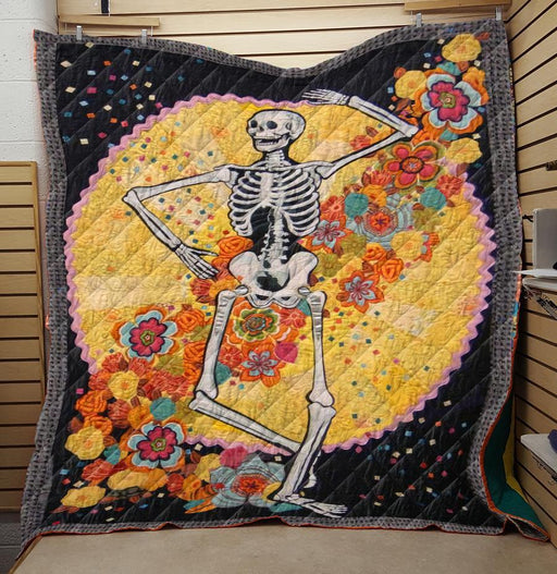 Hippie Skeleton- Premium Blanket (NQC88)